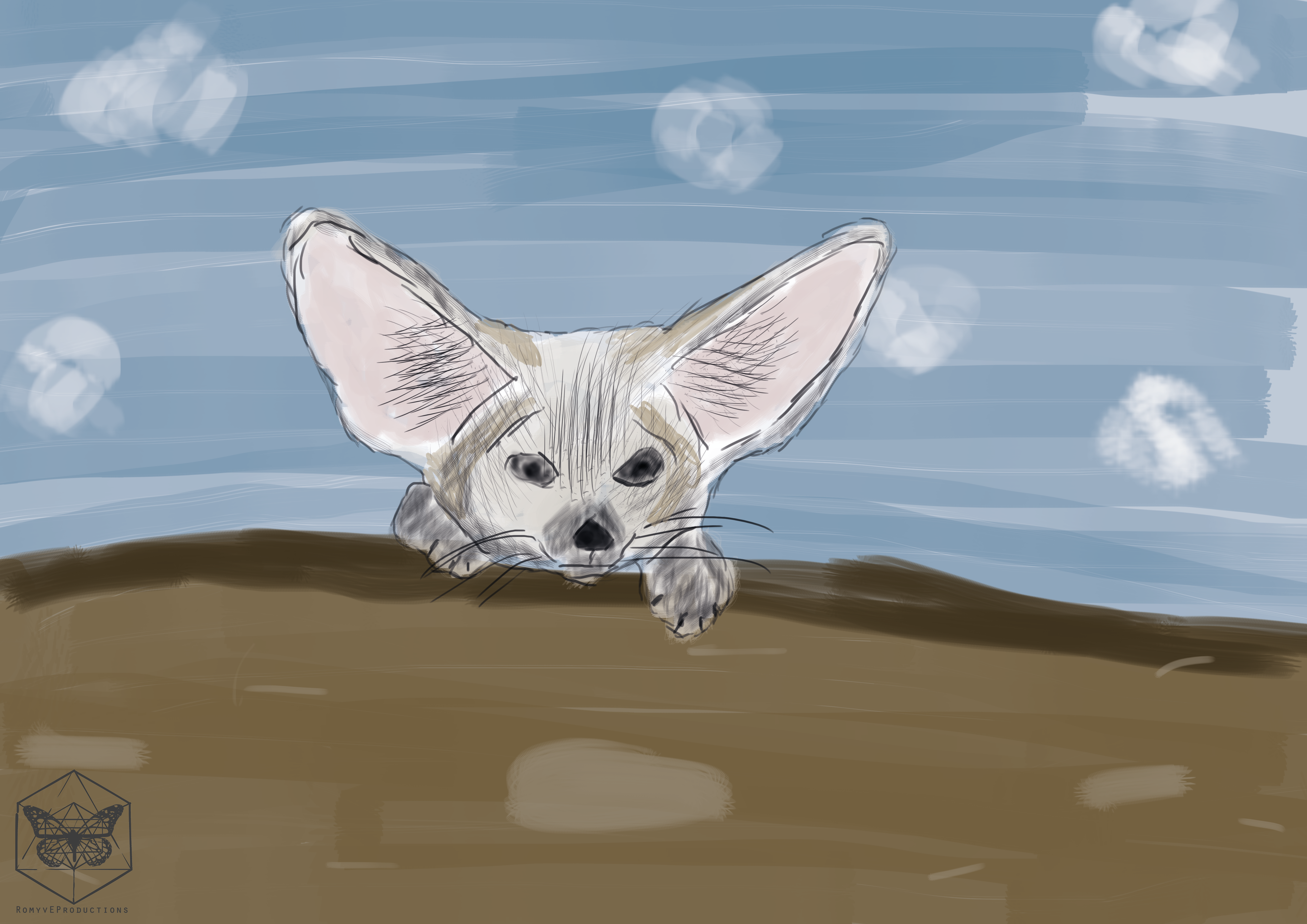 Oefenen woestijn vos